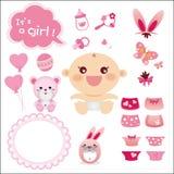 Leuke Grafisch voor het Meisje van de Baby Royalty-vrije Stock Afbeeldingen