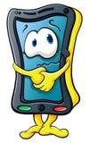 Leuke grappige beeldverhaalsmartphone stock illustratie
