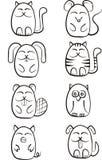 Leuke grappige dieren Stock Afbeelding