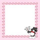 Leuke grijze kat met bloemen valentine Royalty-vrije Stock Foto's