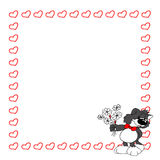 Leuke grijze kat met bloemen valentine Stock Foto