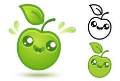 Leuke groene appel Royalty-vrije Stock Fotografie