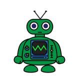 Mini Robot Stock Foto
