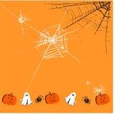 Leuke Halloween achtergrond Stock Foto