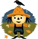 Leuke Halloween-Vogelverschrikker Stock Afbeeldingen