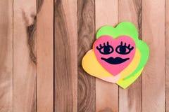 Leuke hart gelukkige emoji royalty-vrije stock foto