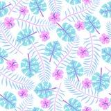 Leuke heldere tropische bladeren stock illustratie