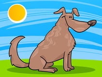 Leuke het beeldverhaalillustratie van de zittingshond royalty-vrije illustratie