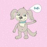 Leuke hond in beeldverhaalstijl Stock Afbeelding