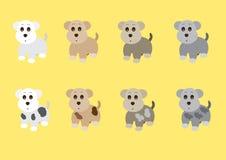 Leuke honden zij status Royalty-vrije Stock Afbeelding