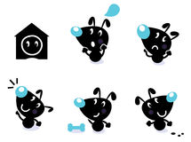Leuke hondinzameling - vectorelementen stock illustratie