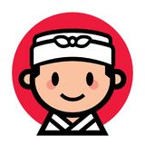 Leuke Japanse chef-kok Stock Afbeelding