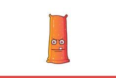 Leuke Jelly Monster Furious Royalty-vrije Stock Afbeeldingen