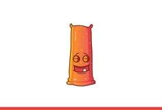 Leuke Jelly Monster Happy met gesloten ogen Stock Afbeeldingen