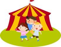 Leuke jonge geitjes bij het circus Royalty-vrije Stock Foto's