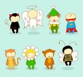 Leuke jonge geitjes in kostuums Royalty-vrije Stock Afbeelding
