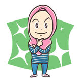 Leuke jonge Moslimvrouw Stock Afbeeldingen