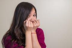 Leuke jonge vrouw Stock Foto's