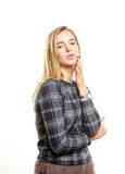 Leuke Jonge Vrouw Stock Afbeeldingen