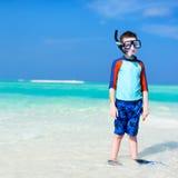 Leuke jongen bij strand Royalty-vrije Stock Foto