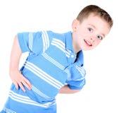 Leuke Jongen met Handen op Heupen stock fotografie