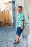 Leuke jongen in Praag Stock Fotografie