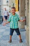 Leuke jongen in Praag Royalty-vrije Stock Afbeelding