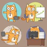 Leuke kat op het werk Stock Illustratie