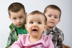 Leuke Kaukasische siblings. royalty-vrije stock foto's