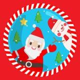 Leuke kerstman Stock Foto's