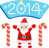 Leuke kerstman Stock Afbeeldingen