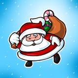 Leuke Kerstmis de Kerstman Royalty-vrije Stock Fotografie
