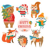Leuke Kerstmisgroeten Stock Afbeelding