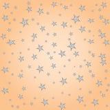 Leuke kinderachtige patroon van pastelkleur het eenvoudige sterren, vector stock illustratie