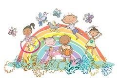 Leuke kinderenuitrusting Royalty-vrije Illustratie