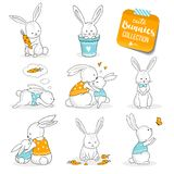 Leuke kleine konijntjes Royalty-vrije Stock Afbeelding