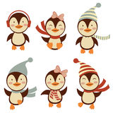 Leuke kleine pinguïneninzameling Stock Fotografie