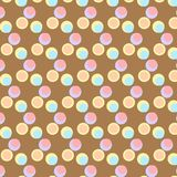 Leuke kleurrijke abstracte inzamelingen als achtergrond die vormen, naadloos, geometrisch, malplaatjesontwerp stock illustratie