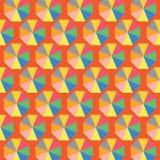 Leuke kleurrijke abstracte inzamelingen als achtergrond die vormen, naadloos, geometrisch, malplaatjesontwerp vector illustratie