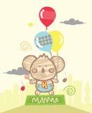 Leuke Koala het Spelen Ballons Royalty-vrije Stock Fotografie