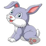 Leuke konijnzitting met witte achtergrond stock illustratie