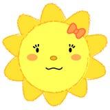 Leuke meisje het glimlachen zon Stock Afbeeldingen
