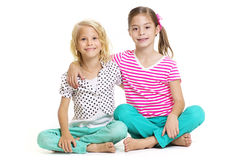 Leuke Meisjes Beste Vrienden Stock Foto