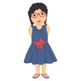 Leuke Meisjes Vectorillustratie royalty-vrije illustratie