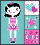 Leuke meisjesachtige illustratie royalty-vrije illustratie