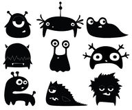Leuke monsters stock illustratie