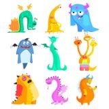 Leuke Monsters en Vreemdelingen Kleurrijke Reeks Stock Foto's