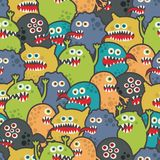 Leuke monsters naadloze textuur. vector illustratie