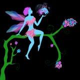 Leuke mooie magische fee royalty-vrije illustratie