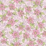 Leuke naadloze achtergrond met bloemen Stock Afbeeldingen